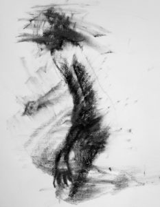 Lithographic Rubbing Ink Drawing, Clara Lieu