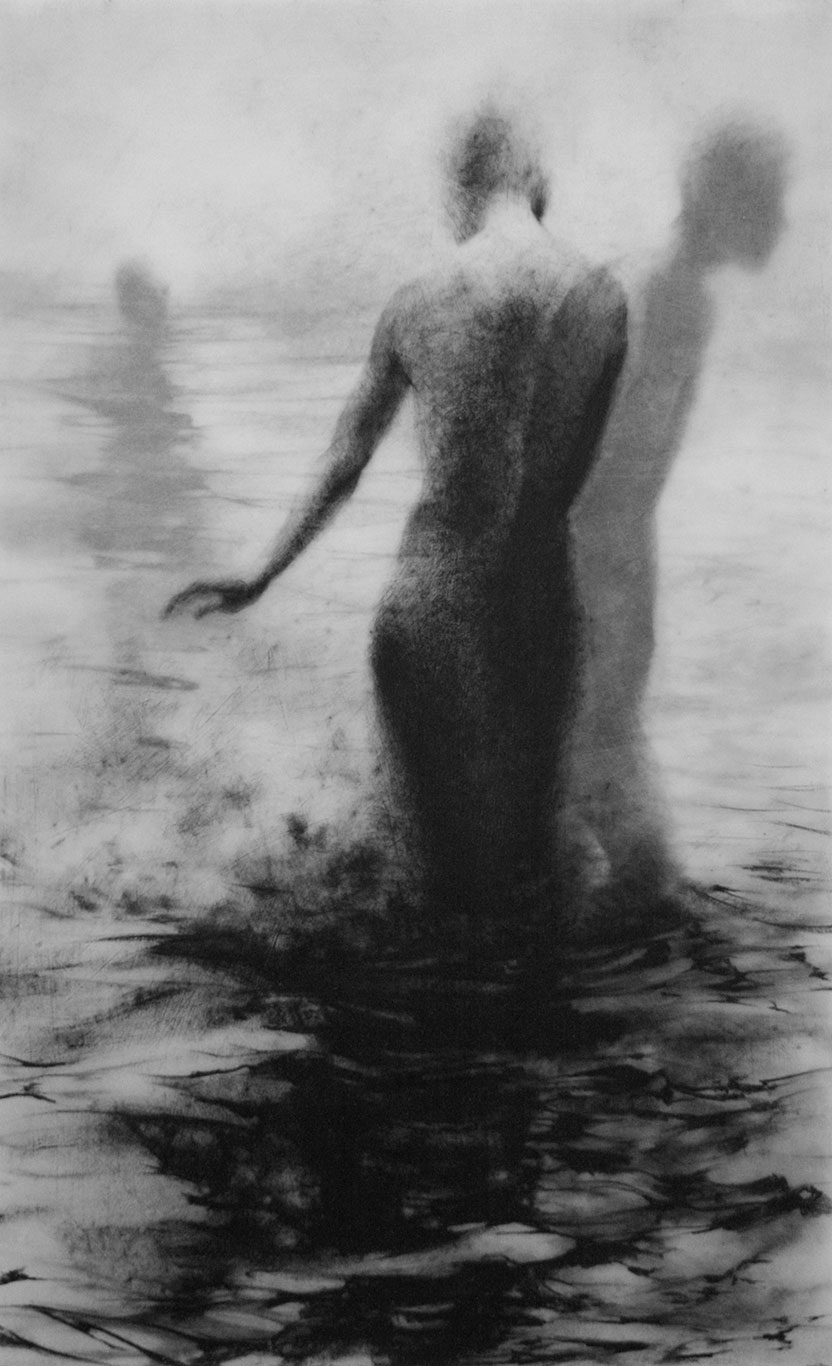 Lithographic Crayon Drawing, Clara Lieu